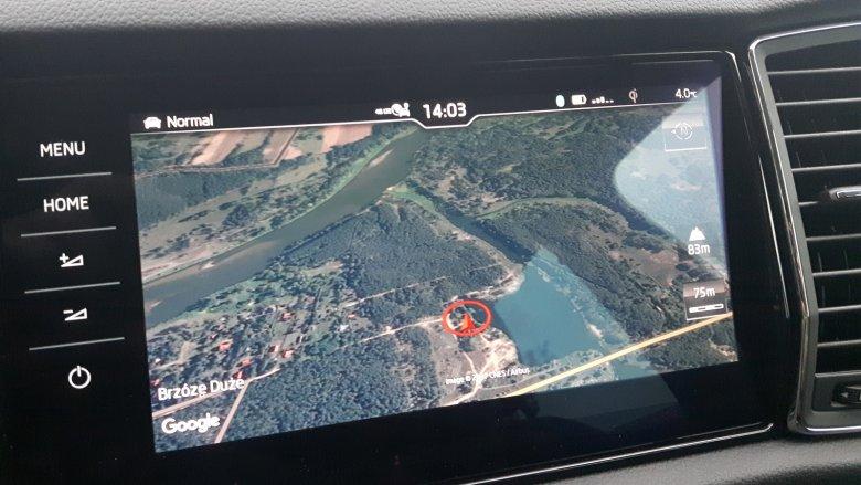Google Map w samochodzie? Tak, w Kodiaqu to standard.