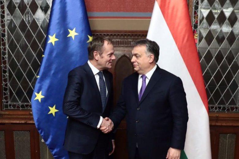 Szef Rady Europejskiej Donald Tusk spotkał się  w Budapeszcie z premierem Węgier Viktorem Obranem.