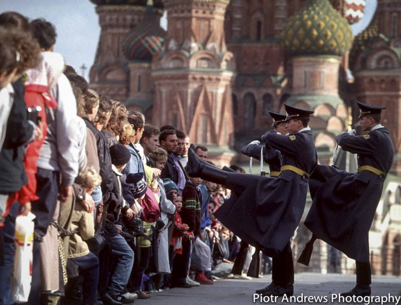 Zmiana warty przed Mauzoleum Lenina.
