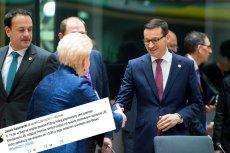 Premier Morawiecki skraca swoją wizytę w Brukseli z powodu...partyjnej wigilii.