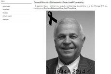 O śmierci burmistrza poinformowano na stronie urzędu miasta