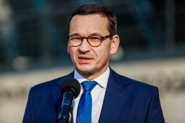 """Mateusz Morawiecki w Ostrzeszowie mówił o """"fanaberiach ideologicznych""""."""