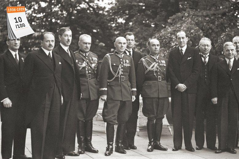 Projektowi Centralnego Okręgu Przemysłowego patronował minister skarbu Eugeniusz Kwiatkowski (na zdjęciu trzeci z lewej) w rządzie Felicjana Sławoja Składkowskiego