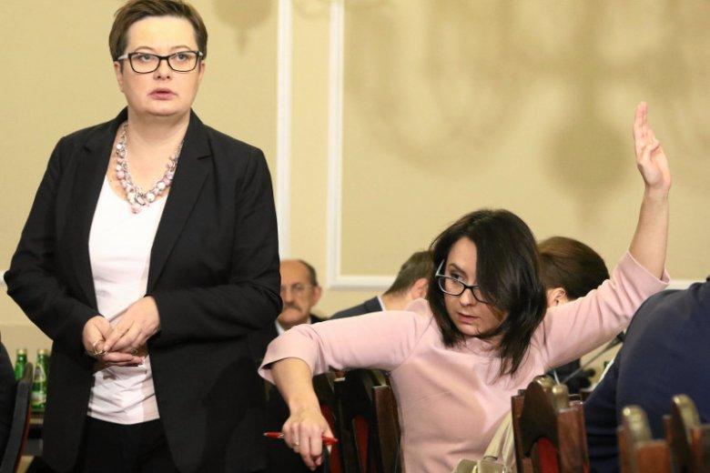 Katarzyna Lubnauer i Kamila Gasiuk-Pihowicz – od teraz już w dwóch różnych klubach parlamentarnych.