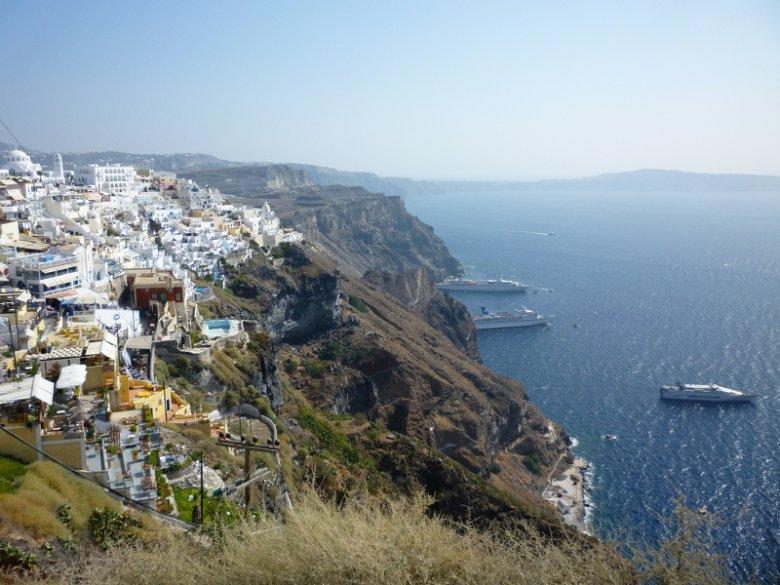 Tak wygląda Santorini w Grecji...
