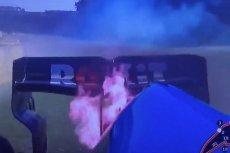 W czasie kwalifikacji do Grand Prix Belgii w Formule 1 zapłonął bolid Roberta Kubicy.