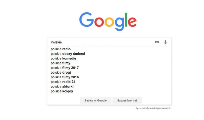 """Efekt po wpisaniu słowa """"Polskie""""."""