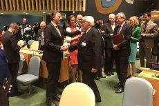 Minister Witold Waszczykowski odebrał gratulacje od przedstawicieli innych członków ONZ.