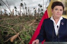 Premier Szydło we wtorek ma się pojawić na terenach zniszczonych przez nawałnicę.