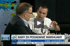 """Andrzej Dołecki i Andrzej Dera w programie """"Tak jest"""" w TVN24."""