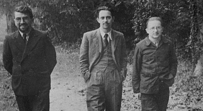 Od lewej: Henryk Zygalski, Jerzy Różycki, Marian Rejewski.