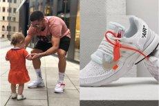Buty Roberta Lewandowskiego powstały w kolaboracji Nike z Off White.