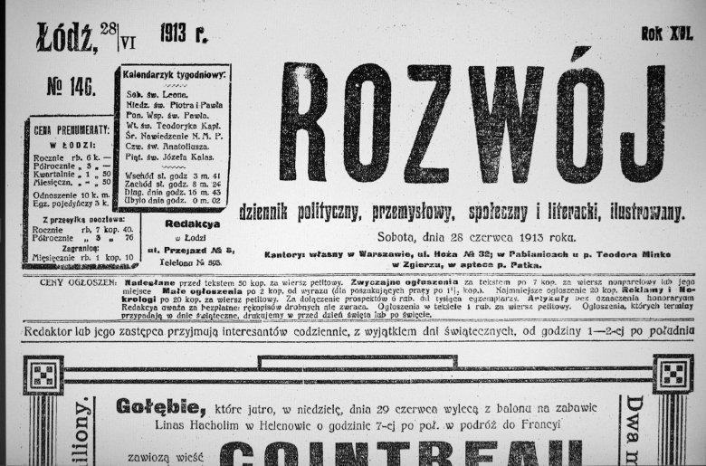ROZWÓJ 28.VI.1913