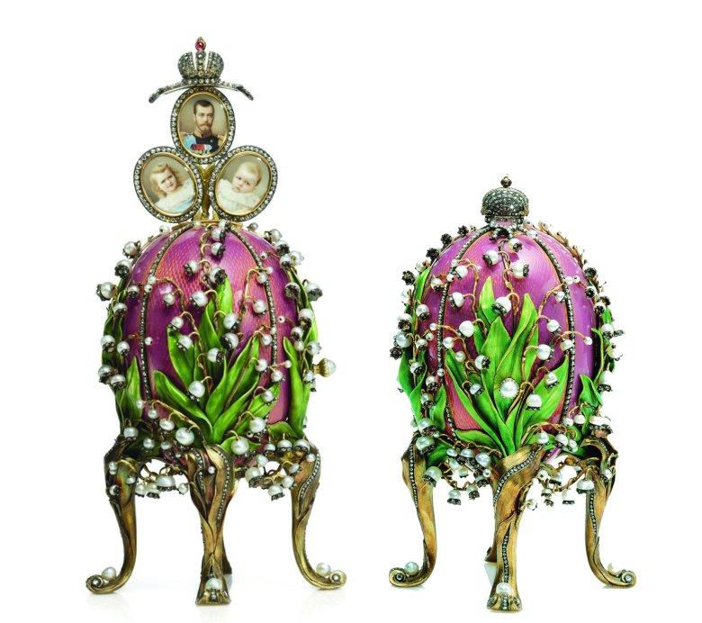 Jajko z konwaliami Faberge. Otwarte i zamknięte