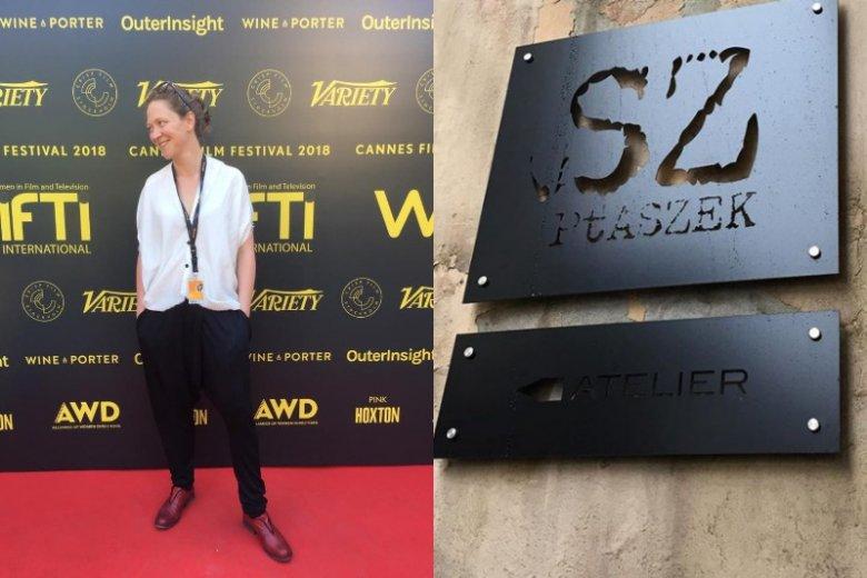 Olga Chajdas w Cannes w zestawieniu od stóp do głów polskiej projektantki Moniki Ptaszek