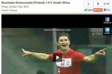 Portal 101greatgoals.com zapisał bramkę z meczu towarzyskiego z RPA na konto Bronisława Komorowskiego