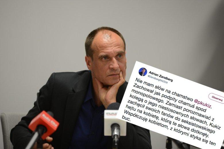 Lider Partii Razem w dosadny sposób skomentował obronę Marka Jakubika przez Pawła Kukiza.