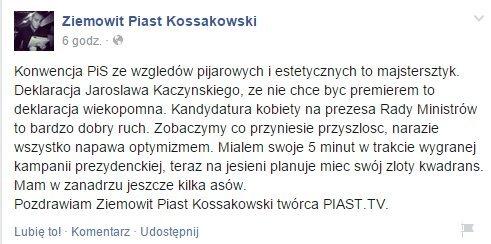 """""""pięć minut"""" ZPK w zwycięskiej kampanii A. Dudy"""