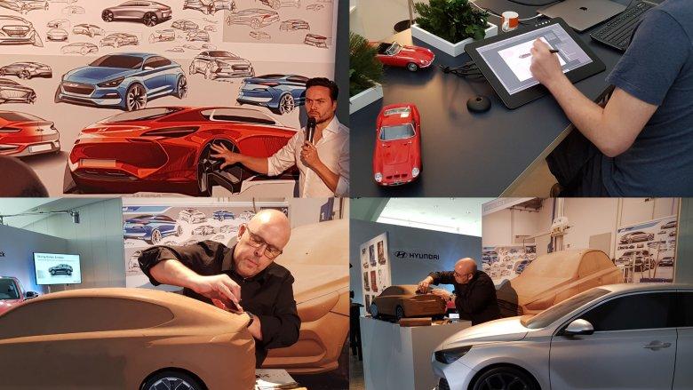 Proces projektowania nowego auta.