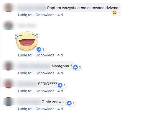 W tej dyskusji na FB biorą udział same kobiety.