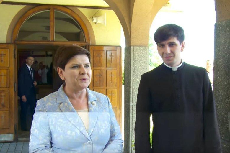 Ks. Tymoteusz Szydło jest synem byłej premier. Niedawno trafił do parafii w Oświęcimiu.