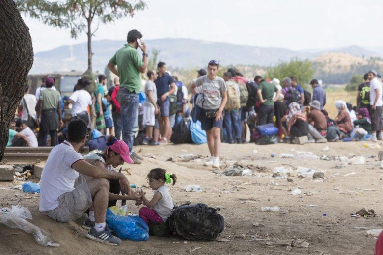 Uchodźcy w Grecji, na granicy z Macedonią