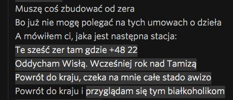 """Fragment zwrotki """"Od zera"""" z płyty """"Umowa o dzieło""""."""
