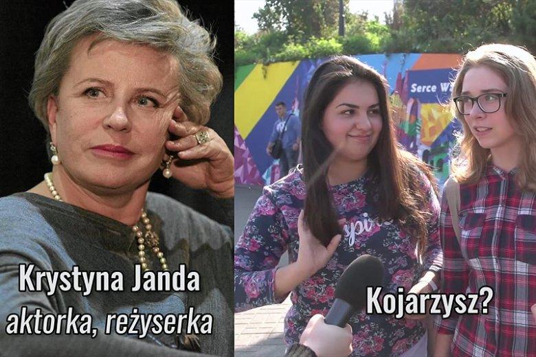 Czy młodzi Polacy znają ludzi takich, jak Krystyna Janda...?