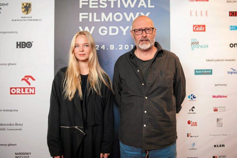 Michalina została nagrodzona Złotymi Lwami za najlepszy debiut filmowy. Na zdjęciu z Wojciechem Smarzowskim.