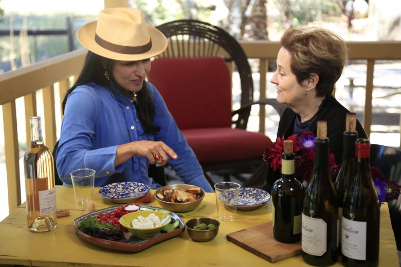 Alice Waters w jednej z kalifornijskich winnic w Napa Valley