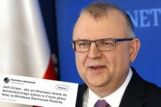 Nowy kandydat PO na prezydenta Wrocławia skasował niewygodny tweet z przeszłości.