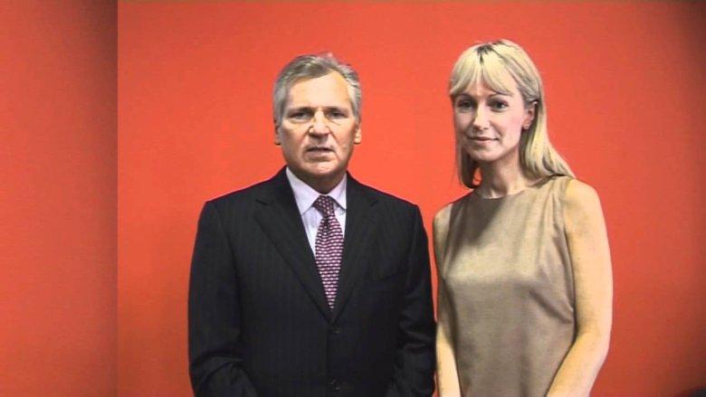 Magdalena Ogórek i Aleksander Kwaśniewski