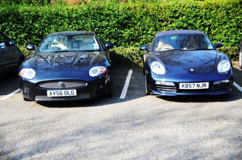 Jaguar XK + Porsche Boxster