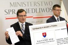 """Bezprecedensowe oświadczenie słowackiego Sądu Najwyższego. """"Władza sądownicza nie może być podrzędna"""""""
