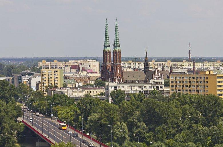 Panorama Pragi z trasą W-Z.