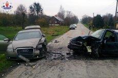 Taką scenę zastali policjanci po przyjeździe na miejsce zuchwałego napadu dokonanego przez złodziei-piratów drogowych w Łopienniku Górnym pod Lublinem.