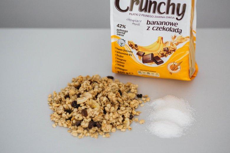 100 g Crunchy = 5 łyżeczek cukru
