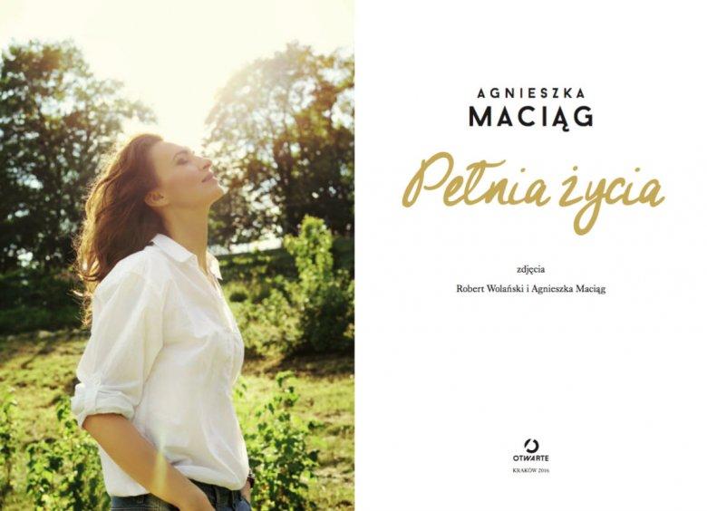 Strona tytułowa najnowszej książki Agnieszki Maciag