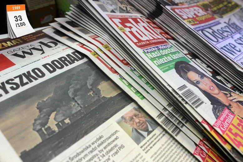 ''Gazeta Wyborcza'', której pierwszy numer ukazał się 8 maja 1989 roku, do dziś pozostaje jednym z najbardziej opiniotwórczych dzienników w Polsce