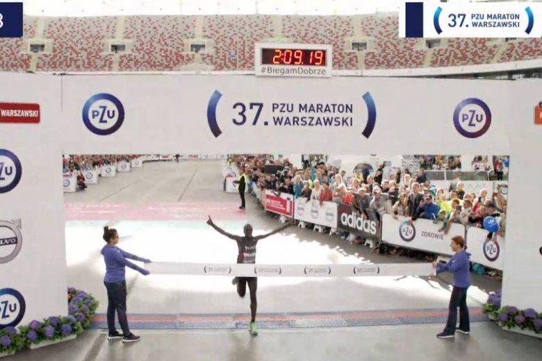 Zwycięzca maratonu na mecie