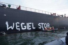 Akcja Greenpeace w Gdańsku.
