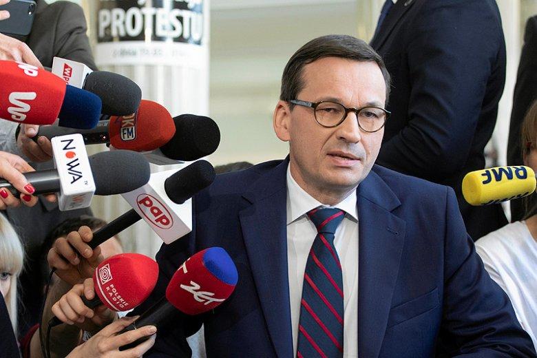 Mateusz Morawiecki powiedział o... propagandzie opozycyjnych mediów.