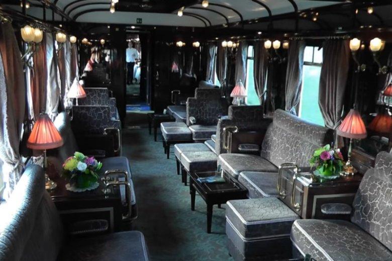 Podróże Orient Expressem należały do jednego z największych luksusów. To jeden z przykładów pięknych wnętrz