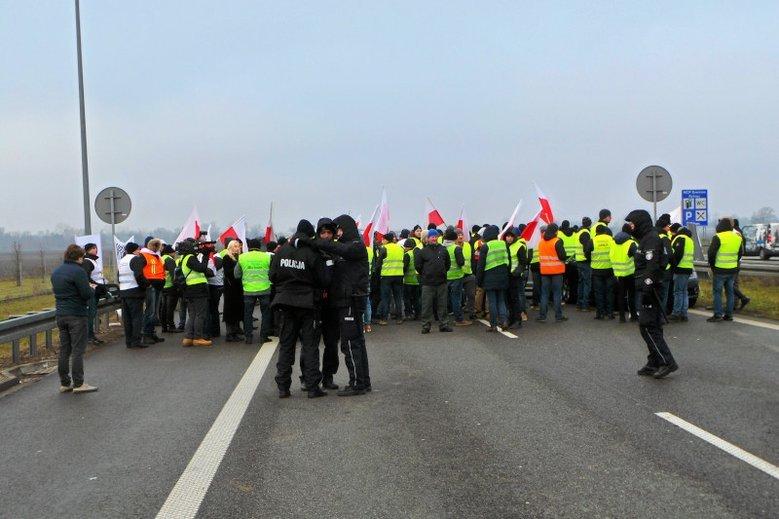 W grudniu 2018 rolnicy blokowali m.in. trasę A2.