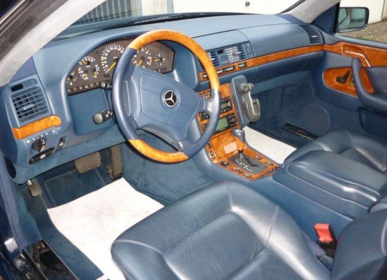 Mercedes W140 - niebieskie wnętrze