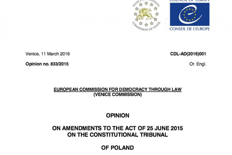 Komisja Wenecka wydała opinię ws. Polski