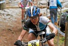 Maja Włoszczowska została wicemistrzynią świata w kolarstwie górskim. Na zdjęciu podczas zawodów Pucharu Świata w Czechach.