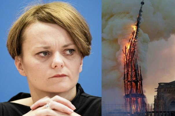 Jadwiga Emilewicz skomentowała pożar Notre Dame.