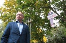 Są zarzuty dla dwóch mężczyzn, którzy powiesili wizerunek Artura Gierady na drzewie w Kielcach.