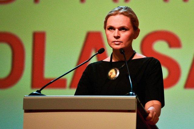Liderka koalicji Barbara Nowacka podczas krajowej konwencji Zjednoczonej Lewicy
